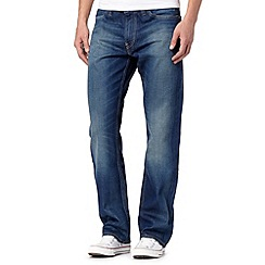 Levi's - 506&#8482 'Dark Stuff' dark blue straight leg jeans