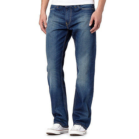 Levi+s - 506&#8482 +Dark Stuff+ dark blue straight leg jeans