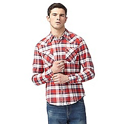 Levi's - Big and tall red checked regular fit shirt