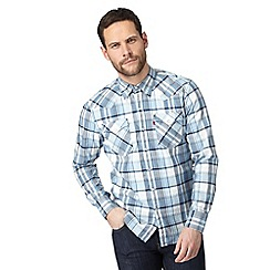 Levi's - Blue checked regular fit shirt