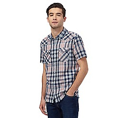 Levi's - Navy checked print shirt