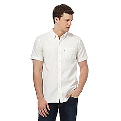 Levi's - White short sleeve dobby shirt
