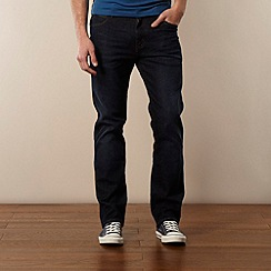 Wrangler - Dark blue straight leg jeans
