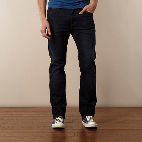 Wrangler - Dark blue Arizona straight leg jeans