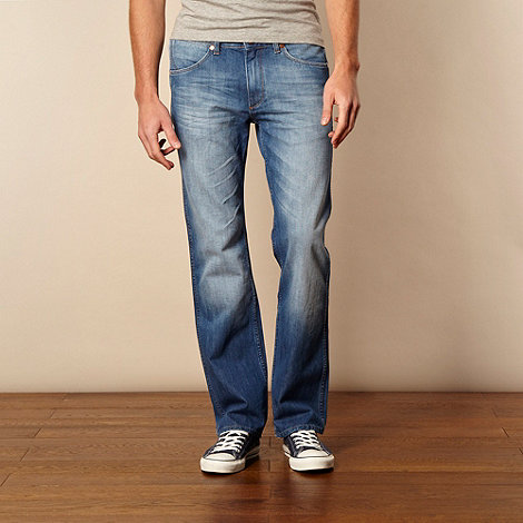 Wrangler - Ace light blue straight leg jeans