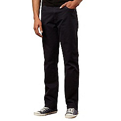 Wrangler - Texas gabardine navy casual trousers