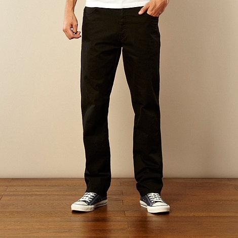 Wrangler - Texas gabardine black straight leg twill jeans