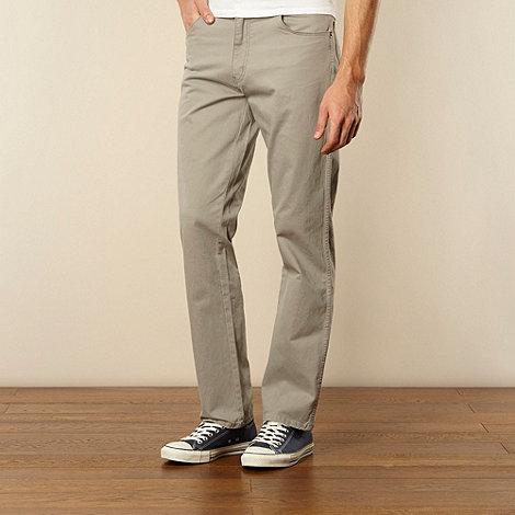 Wrangler - Texas gabardine grey straight leg jeans