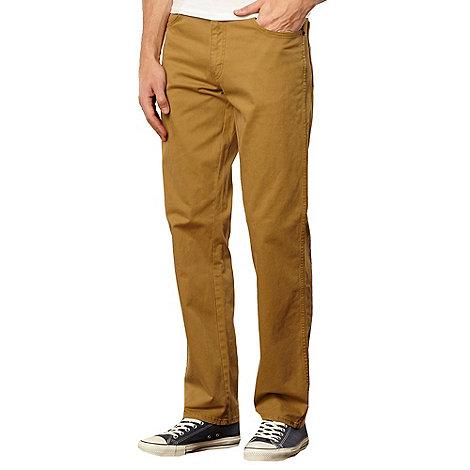 Wrangler - Texas gabardine tan straight leg jeans