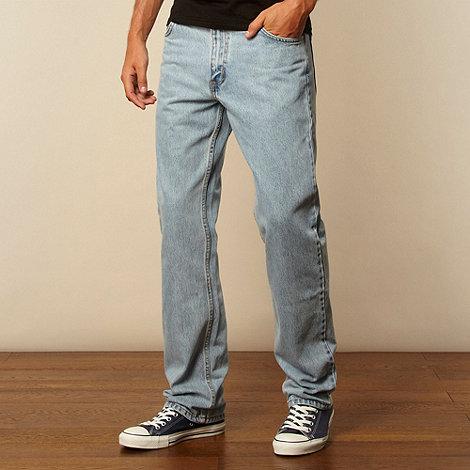 Lee - Big and tall Brooklyn light blue regular fit jeans