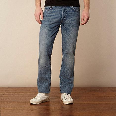 Levi+s - 501 light blue straight leg jeans