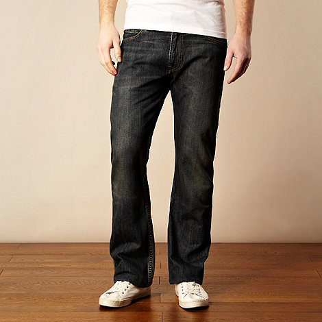 Levi+s - 506&#8482 dusty black straight leg jeans