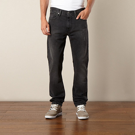 Levi+s - 508 grey regular fit tapered leg jeans