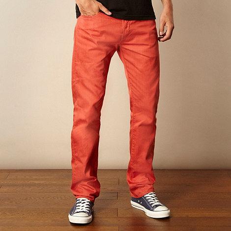 Levi+s - 501 dark orange straight leg jeans