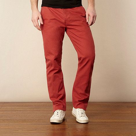 Levi+s - Red herringbone straight leg chinos