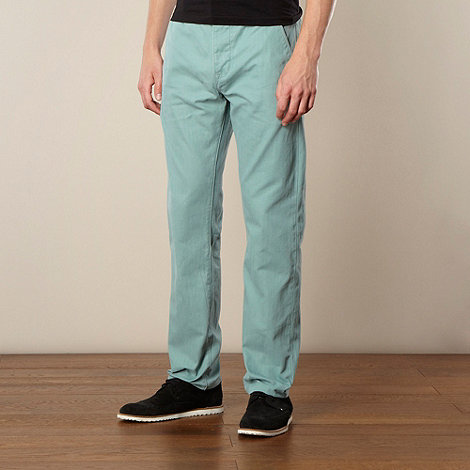 Levi+s - Green straight leg herringbone chinos