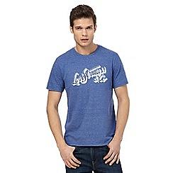 Levi's - Blue marl logo print t-shirt