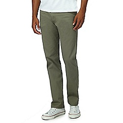 Wrangler - Big and tall olive 'Arizona' chinos