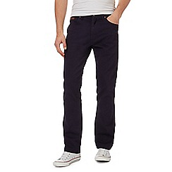 Wrangler - Big and tall navy 'Arizona' chinos
