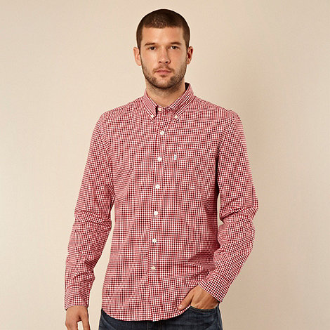 Levi+s - Levi+s® red gingham checked long sleeved shirt