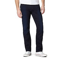 Wrangler - Dark blue 'Texas' regular fit jeans
