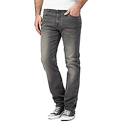 Wrangler - Big and tall grey classic straight denim jeans