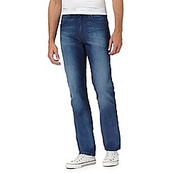 Wrangler - Blue mid wash 'Arizona' straight leg jeans