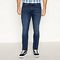 Wrangler - Navy 'Larston' slim tapered jeans