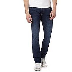 Wrangler - Blue 'Larston' mid wash slim tapered jeans