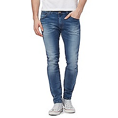 Wrangler - Blue 'Bryson' mid wash skinny jeans