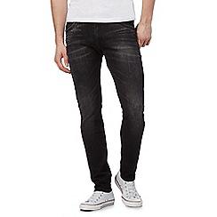 Wrangler - Dark grey 'Bryson' mid wash skinny jeans