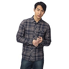 Wrangler - Grey checked slim fit shirt