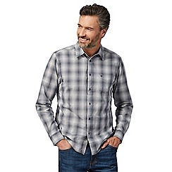 Wrangler - Grey check print button down shirt