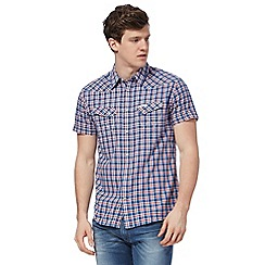 Wrangler - Blue and red checked western shirt