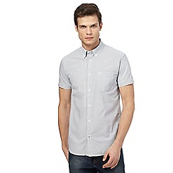 Wrangler - White micro-gingham short-sleeved shirt