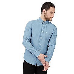 Wrangler - Light blue washed regular fit shirt