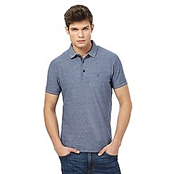 Wrangler - Blue fine striped polo shirt