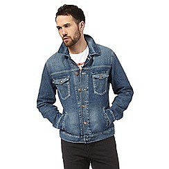 Wrangler - Blue mid wash denim jacket