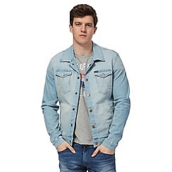 Wrangler - Light blue denim slim fit jacket