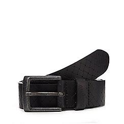 Wrangler - Black embossed weave belt