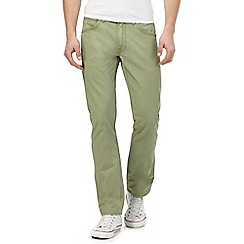 Lee - Green 'Daren' regular slim chinos