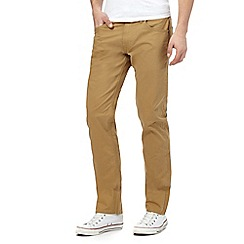 Lee - Tan 'Daren' regular slim chinos