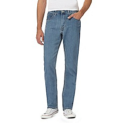 Lee - Big and tall light blue 'Brooklyn' regular fit jeans