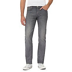 Lee - Grey 'Darren Storm' straight fit jeans