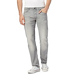 Lee - Light grey 'Daren' straight leg jeans