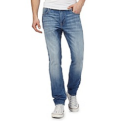 Lee - Blue 'Arvin' mid wash straight leg jeans