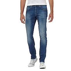 Lee - Blue mid wash slim tapered jeans