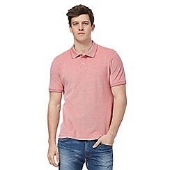 Lee - Pink textured polo shirt