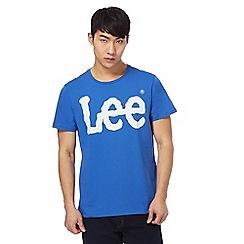 Lee - Blue 'Lee' logo print t-shirt