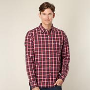 Big and tall Levi's® red checked long sleeved shirt
